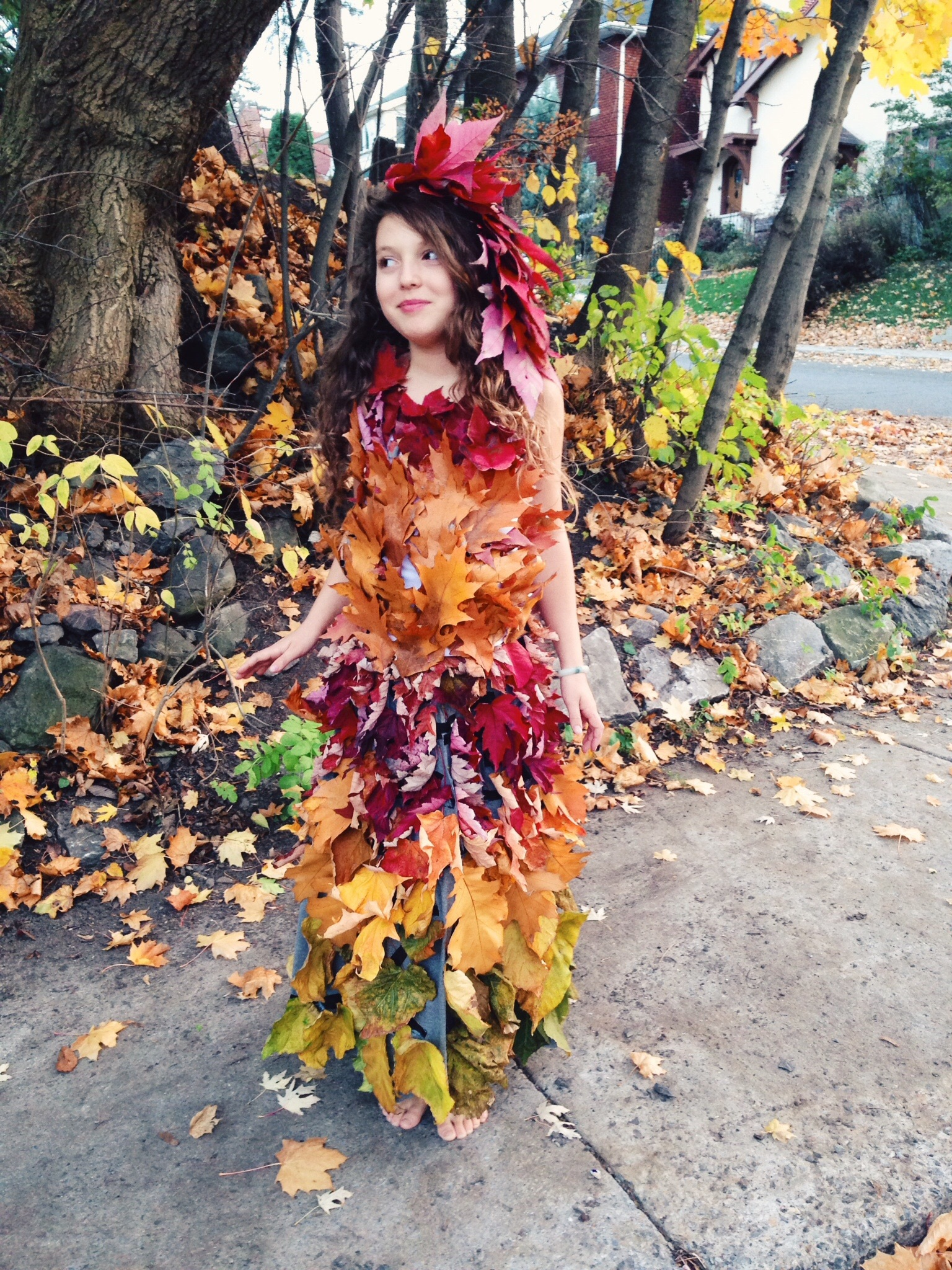 Mother Nature Leaf Dress Hippie